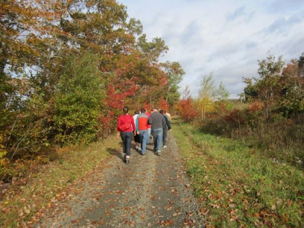 A group of walkers using the LaHave River Trail